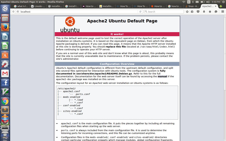 Install LAMP Stack In Ubuntu 14.04